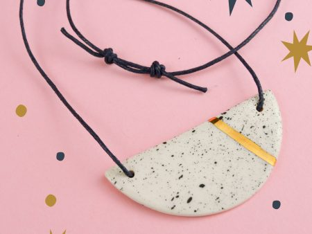 colier minimalist ceramica