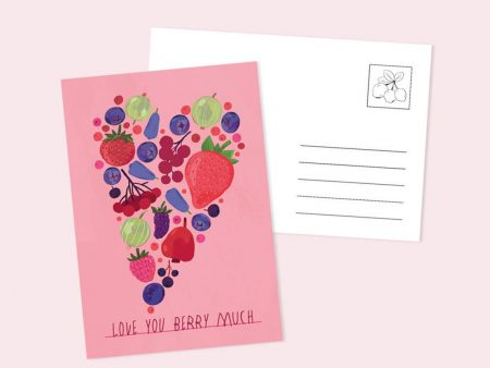 Carte poștală cu textul Love You Berry Much