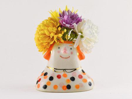 Obiect decorativ din ceramica - Veta Bulinescu - vază sau suport pensule